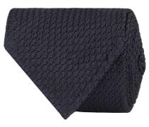 Silk Grenadine Handrolled 8 cm Krawatte Navy