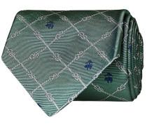 Embroided Logo 8 cm Silk Krawatte Green