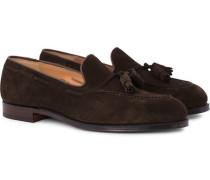 Cavendish Tassel Loafer Dark Brown Suede