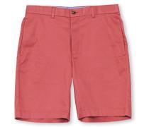 Baumwoll Bermuda Shorts Washed Red