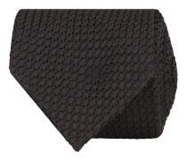 Silk Grenadine Handrolled 8 cm Krawatte Black