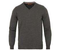 Merino V- Neck Pullover Anthracite
