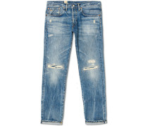 Slim Fit Worked Selvedge Jeans Crisfield Wash