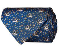 Silk Printed Unicorn 8 cm Krawatte Navy