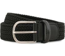 Stretch Woven 3,5 cm Gürtel Black