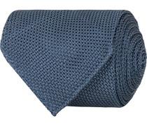 Silk Grenadine Handrolled 8 cm Krawatte Petrol Blue