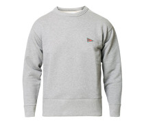 Logo Crest Sweatshirt Grey