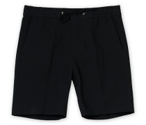 Sebastian Seersucker Drawstring Shorts Black