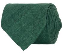 Tussah Silk Handrolled 8 cm Krawatte Green