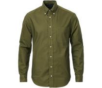 Buttondown Overdye Hemd Olive