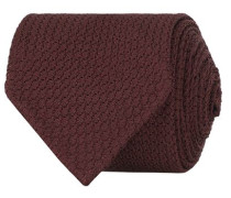 Silk Grenadine Handrolled 8 cm Krawatte Wine Red