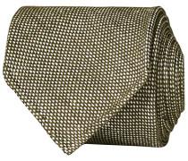 Leinen/Silk Woven Handrolled 8 cm Krawatte Green