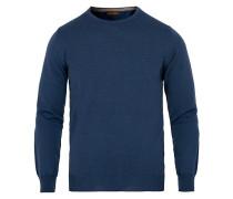 Merino Rundhalspullover Jeans Blue