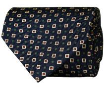 Silk Foulard Printed 8 cm Krawatte Navy