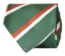 Silk Reppe Woven Stripe 8 cm Krawatte Green