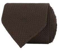 Silk Grenadine Handrolled 8 cm Krawatte Brown
