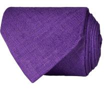 Leinen 8 cm Krawatte Purple