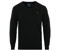 Merino V Neck Pullover Black