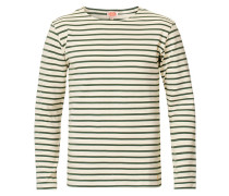 Houat Héritage Stripe Longsleeve T-shirt Nature/Army