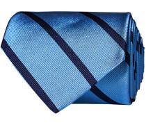 Striped 8 cm Silk Krawatte Light Blue