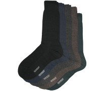 5-Pack Naish Merino/Nylon Socke Navy/Black/Charcoal/Chocolate/Racing Gr