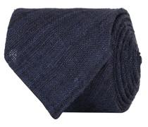 Tussah Silk Handrolled 8 cm Krawatte Navy