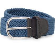 Stretch Woven 3,5 cm Gürtel Blue