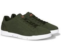 Breeze Tennis Knit Sneaker Olive/White