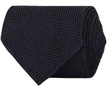 Silk Fine Grenadine Handrolled 8 cm Krawatte Navy