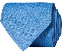 Leinen 8 cm Krawatte Dusty Blue