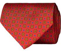Silk Foulard Printed 8 cm Krawatte Red