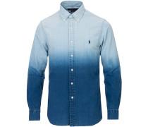 Slim Fit Dip Dye Hemd Blue