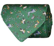 Silk Printed Animals 8 cm Krawatte Green
