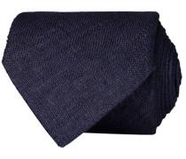 Leinen 8 cm Krawatte Navy