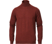 Fine Merino Woll Rollneck Rust Red