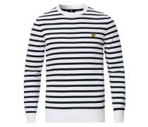 Breton Stripe Rundhalspullover White/Navy