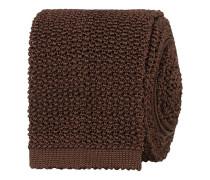 Stricked Silk 6.5 cm Krawatte Brown