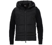 Hybrid Full Zip Pile Jacke Black