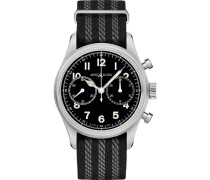 1858 Steel Automatic Chronograph 42mm Black Dial
