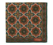 Baumwoll/Silk Baroque Tile Einstecktuch Dusty Red