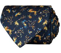 Silk Printed Animals 8 cm Krawatte Navy