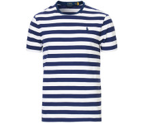 Custom Slim Fit Stripe Tshirt Navy/White