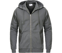 Classic Organic Full Zip Hood Storm Grey