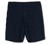 Sasha Leinen Drawstring Shorts Navy