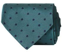 Silk Jacquard Woven Dot 8 cm Krawatte Green