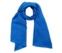 Solid Leinen Halstuch / Schal Blue