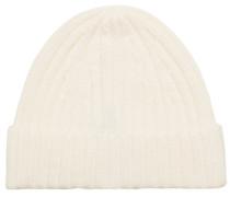 Strick Cashmere Hut/Mütze White