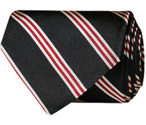 Striped 8 cm Silk Krawatte Black