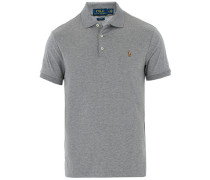 Slim Fit Pima Baumwoll Polo Polo Steel Heather