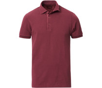 Washed Polo Burgundy